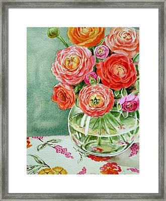 Fresh Cut Flowers Framed Print by Irina Sztukowski