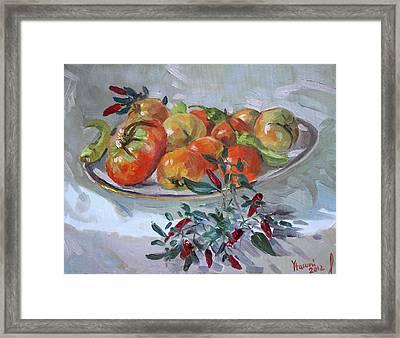 Fresh From The Garden Framed Print by Ylli Haruni