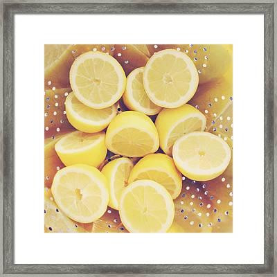 Fresh Lemons Framed Print by Amy Tyler