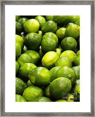 Fresh Limes Framed Print by Methune Hively