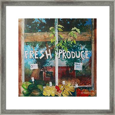 Fresh Produce Framed Print by Micheal Jones