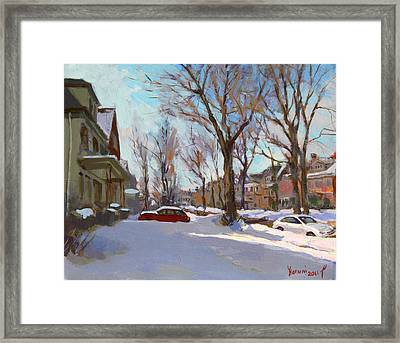 Fresh Snow Framed Print by Ylli Haruni