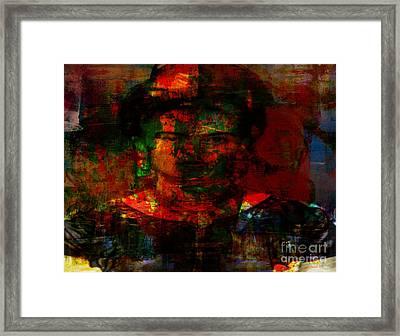 Frida In Mixed Media Framed Print by Fania Simon