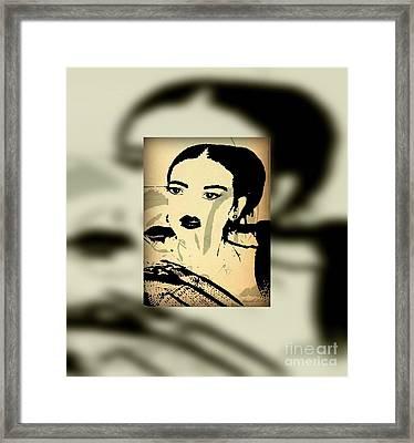 Frida In My Imagination Framed Print by Fania Simon