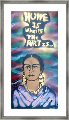Frida Kahlo Framed Print by Tony B Conscious