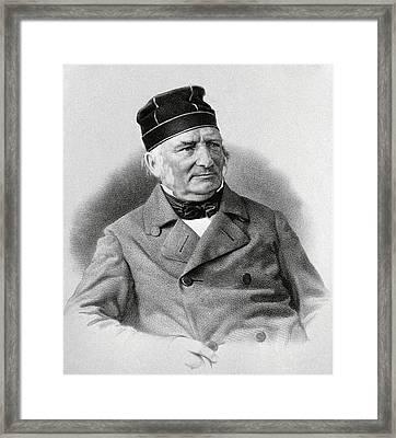 Friedrich Struve, German Astronomer Framed Print by Ria Novosti