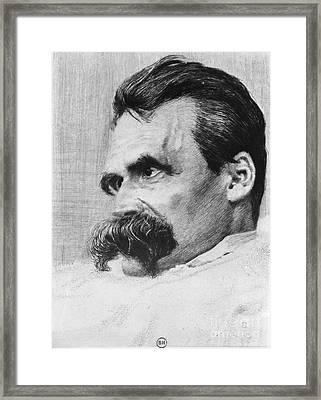 Friedrich Wilhelm Nietzsche, German Framed Print by Photo Researchers