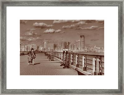 Friends Sepia Framed Print by Lee Dos Santos