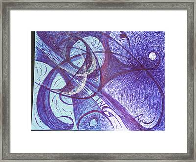 Frolicking Outside The Portals Of Personal Responsibility Lllllllllllllll  Black Holes Into The Soul Framed Print by Rich Graham