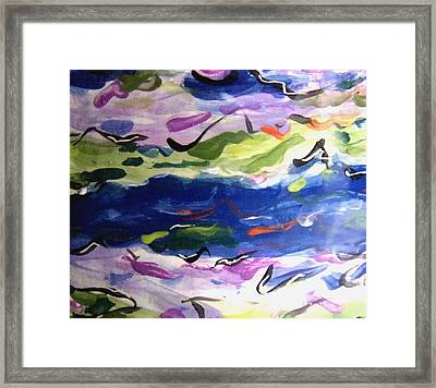 Frolicking Sea Framed Print by Patricia Lazar