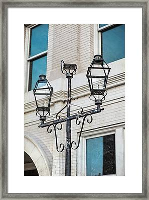 Front Street Lamp Framed Print by Brenda Bryant