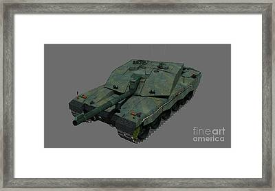 Front View Of A British Challenger II Framed Print by Rhys Taylor