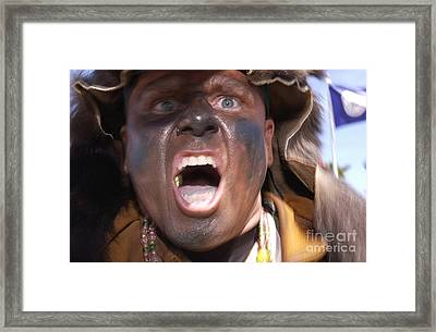 Frontiersman Pumps Up Team Members Framed Print by Stocktrek Images