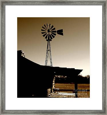 Frost On The Stoop Framed Print by Robert Frederick