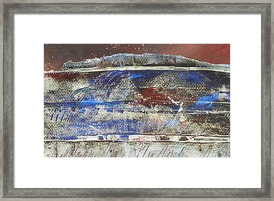 Frosted Landscape Framed Print by Adele Greenfield