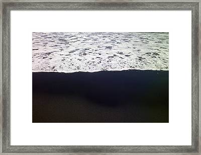 Frothy Pacific Ocean Framed Print by Raul Touzon