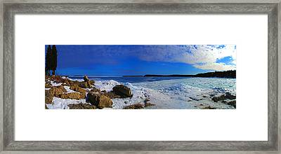 Frozen Lake Framed Print by Photography Art