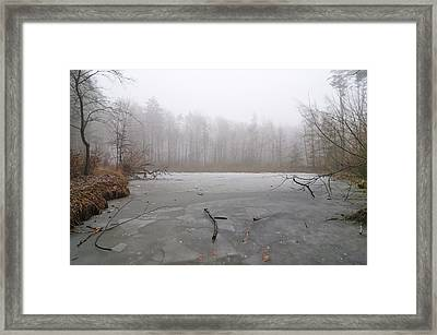 Frozen Lake In Winter Framed Print by Matthias Hauser