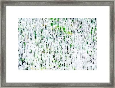 Frozen Slab Bubbles Trapped In Glass-like Sculpture Framed Print by Andy Smy