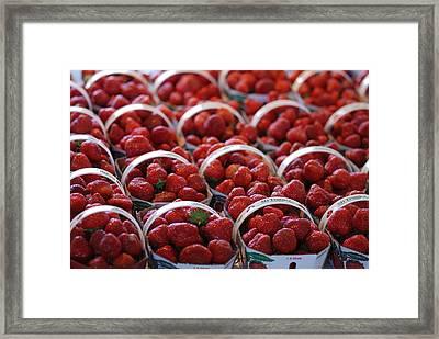 Fruit Basket Framed Print by Francois Cartier