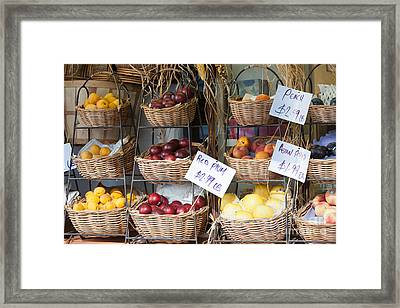 Fruit For Sale Framed Print by Clarence Holmes