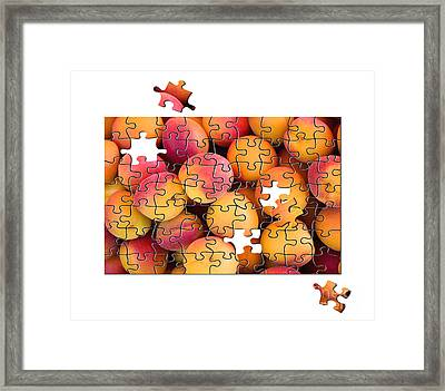 Fruit Jigsaw1 Framed Print by Jane Rix