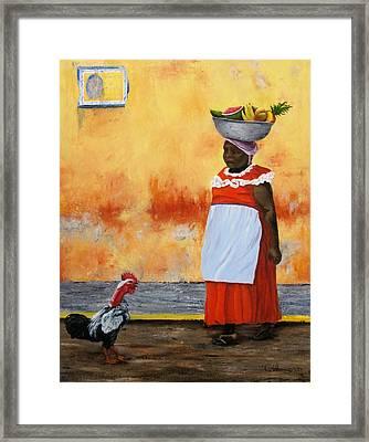 Fruit Seller Framed Print by Roseann Gilmore