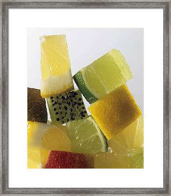 Fruit Squares Framed Print by Veronique Leplat