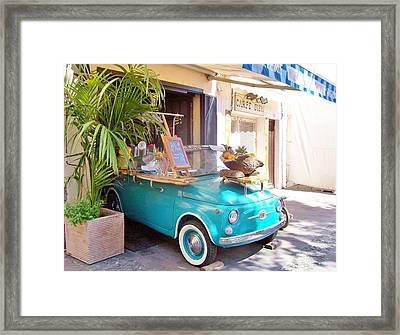 Fruit Stand In Collioure France Framed Print by Marilyn Dunlap