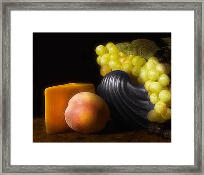 Fruit With Cheese Framed Print by Tom Mc Nemar