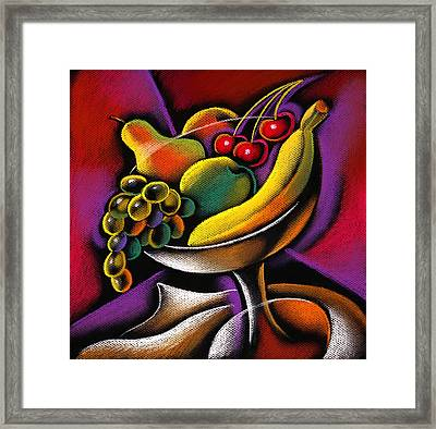 Fruits Framed Print by Leon Zernitsky