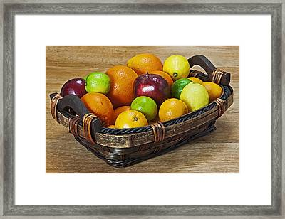 fruits with vitamin C Framed Print by Joana Kruse