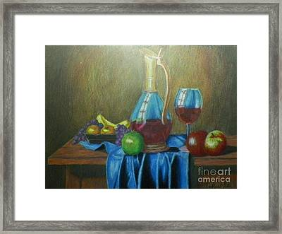 Fruity Still Life Framed Print by Mickael Bruce