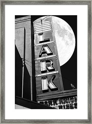Full Moon Over The Lark - Larkspur California - 5d18489 - Black And White Framed Print by Wingsdomain Art and Photography