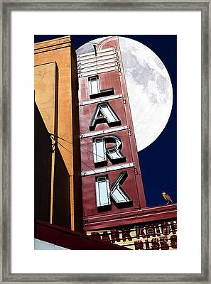 Full Moon Over The Lark - Larkspur California - 5d18489 Framed Print by Wingsdomain Art and Photography