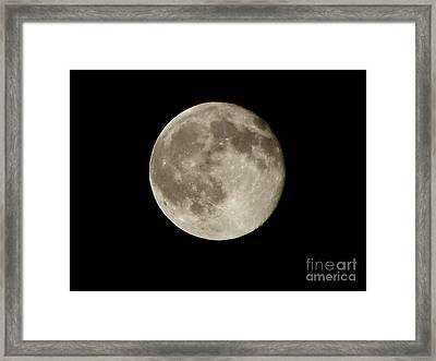 Full Moon  Framed Print by Pixel  Chimp