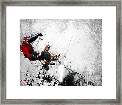 Full Sail Framed Print by Arne Hansen