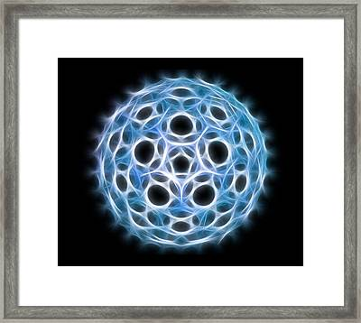 Fullerene Molecule, Artwork Framed Print by Laguna Design