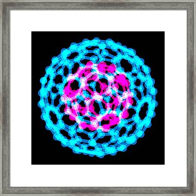Fullerene Molecules, Computer Artwork Framed Print by Laguna Design