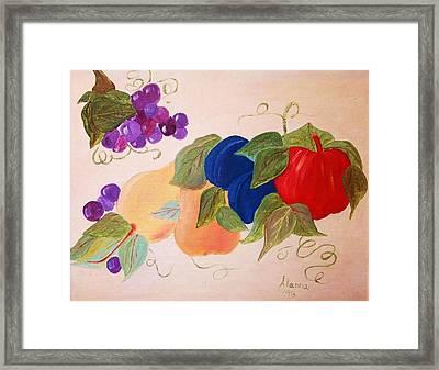 Fun Fruit Framed Print by Alanna Hug-McAnnally