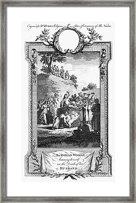 Funeral Pyre, 18th Century Framed Print by Granger