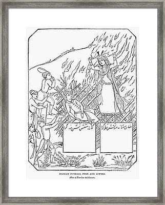 Funeral Pyre Framed Print by Granger