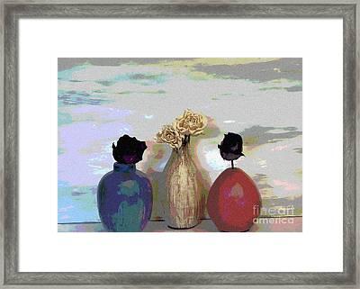Funky Flowers Framed Print by Marsha Heiken
