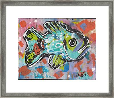 Funky Folk Fish 2012 Framed Print by Robert Wolverton Jr