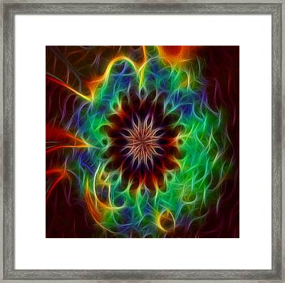 Funky Fractal Kaleidoscope Two Framed Print by Gina Lee Manley
