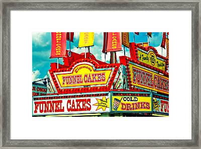 Funnel Cakes Carnival Food Vendor Framed Print by Eye Shutter To Think Prints