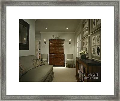 Furniture In Upscale Home Framed Print by Robert Pisano