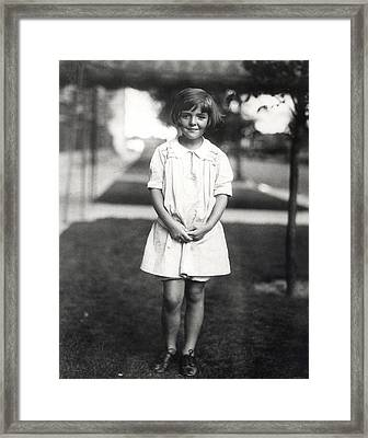 Future Actress And First Lady Nancy Framed Print by Everett