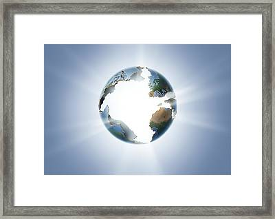 Future Of The Earth, Conceptual Image Framed Print by Smetek