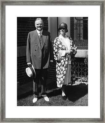 Future President Herbert Hoover Framed Print by Everett